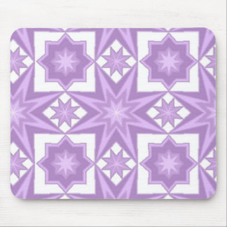 Purple Star Quilt Pattern Mouse Mat