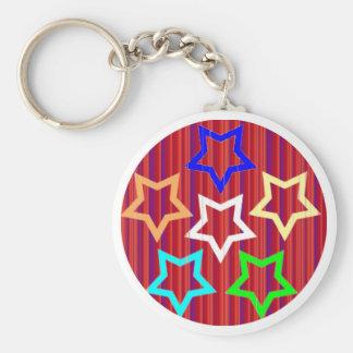 Purple Star Shield Key Chains