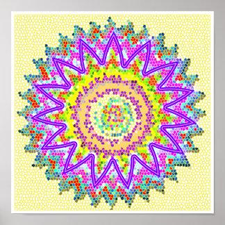 PURPLE Star Sparkling Chakra Poster