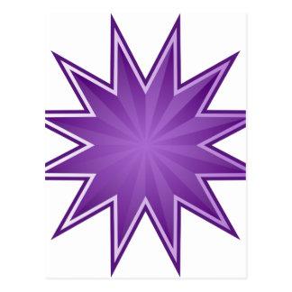 Purple Starburst Icon Postcard