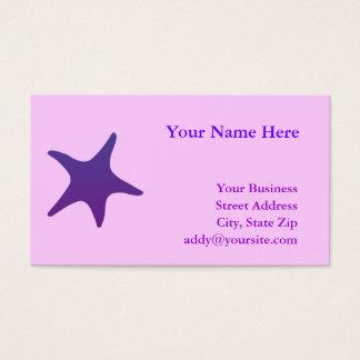 Purple Starfish Business Card