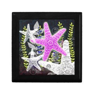 Purple starfish flora and fauna foliage nautilus gift boxes