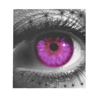 Purple Starry Eye Notepad