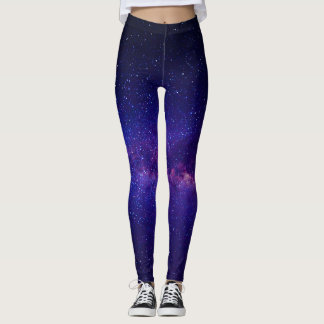 Purple Starry Night Galay Leggings