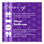 Purple Stars 2013 New Grad or Change to Any Year 13 Cm X 13 Cm Square Invitation Card