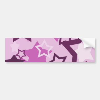 Purple stars bumper sticker