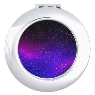 Purple Stars Compact Mirrors