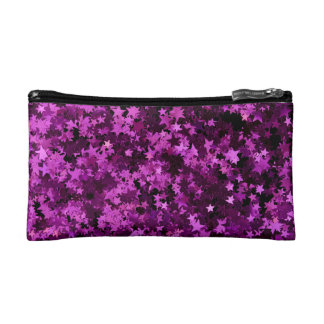 Purple stars design cosmetics bags