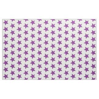 Purple Stars Fabric