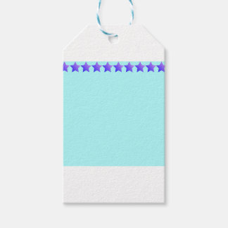 Purple stars gift tags