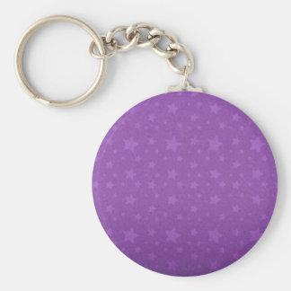 Purple Stars Keychain