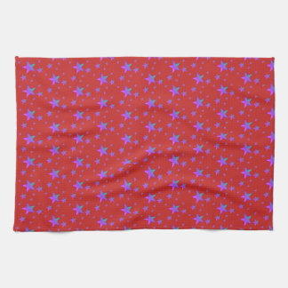 purple stars kitchen towel