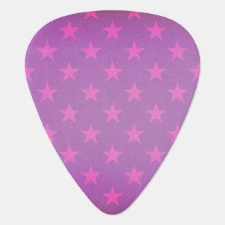 Purple stars pattern plectrum