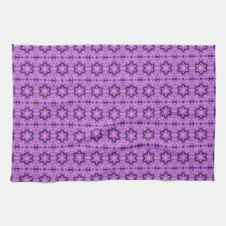 purple stars pattern towel
