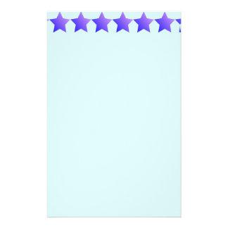 Purple stars stationery