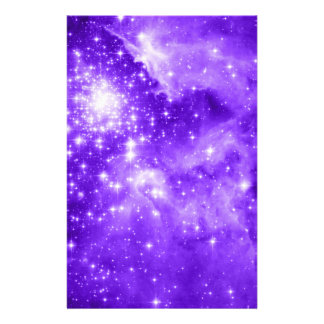 Purple Stars Stationery