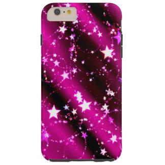 Purple Stars Tough iPhone 6 Plus Case