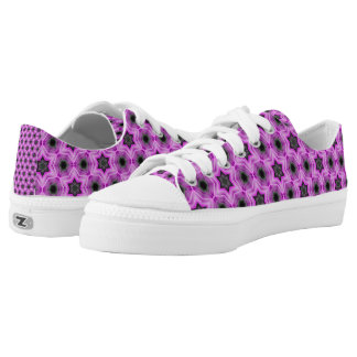 Purple Stars Unique design shoes Printed Shoes