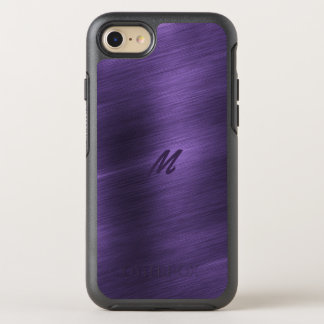 Purple Steel Metal Monogram OtterBox iPhone 7 Case
