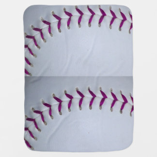 Purple Stitches Baseball / Softball Baby Blanket