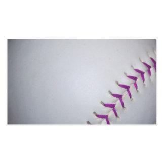 Purple Stitches Baseball Softball Business Card