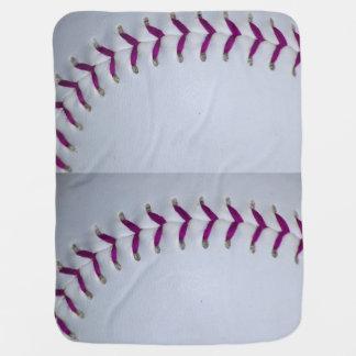 Purple Stitches Baseball / Softball Receiving Blanket