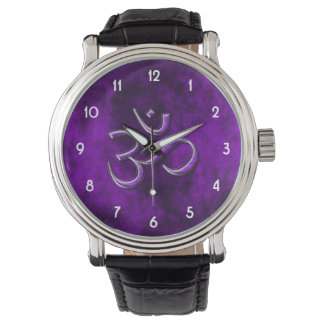 Purple Stone Om Watch
