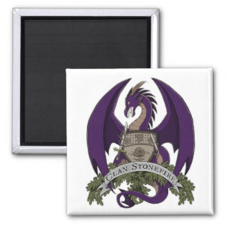Purple Stonefire Dragons Crest Magnet