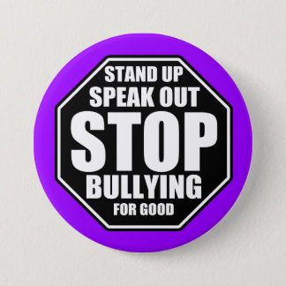 Purple Stop Bullying 7.5 Cm Round Badge