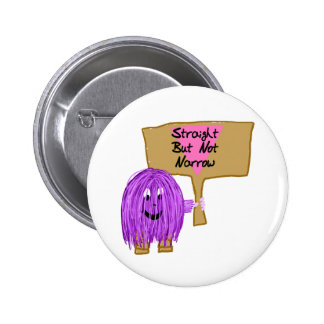 Purple Straight but Not Narrow 6 Cm Round Badge