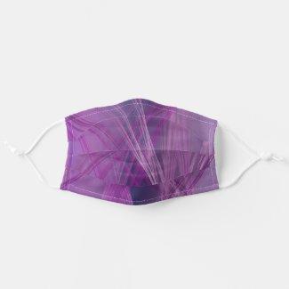 Purple Streaks Cloth Face Mask