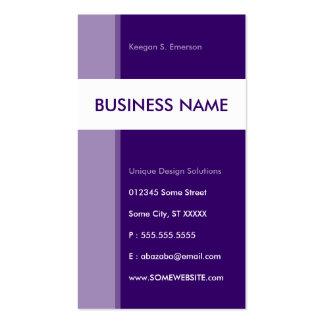 purple streamline business cards