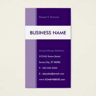 purple streamline business card