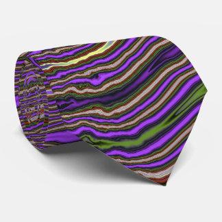 Purple Stripe Fractal Tie