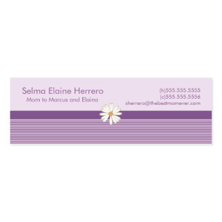 Purple Stripe Mommy Cards Pack Of Skinny Business Cards