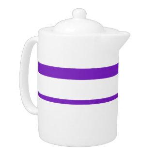 Purple stripe teapot