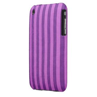 Purple Striped Case-Mate Case iPhone 3 Cases