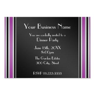 "Purple stripes Business invitation 5"" X 7"" Invitation Card"
