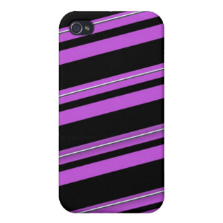 Purple stripes case for the iPhone 4