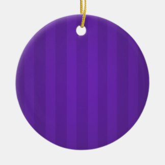 Purple Stripes Christmas Personalized Ornament