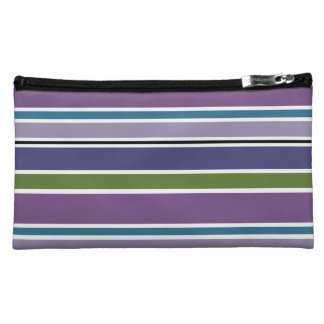 Purple Stripes Cosmetic Bag