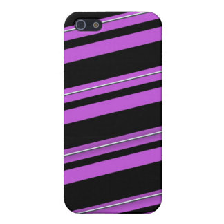 Purple stripes iPhone 5/5S case