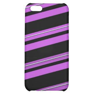 Purple stripes  iPhone 5C cover