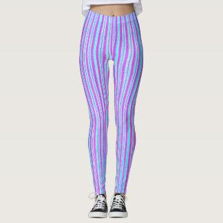 Purple stripes - Leggings