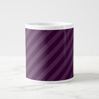 Purple stripes extra large mugs