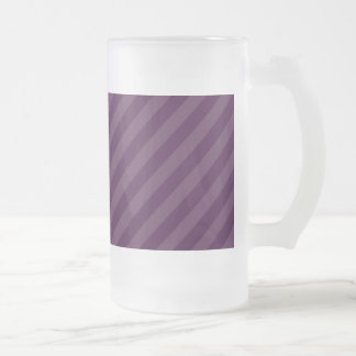 Purple stripes glass beer mugs