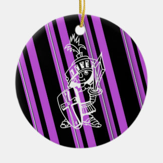 Purple stripes ornament