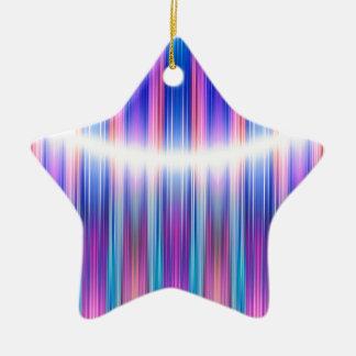Purple stripes pattern ceramic star decoration