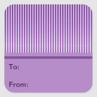 Purple Stripey Striped Pattern Square Sticker