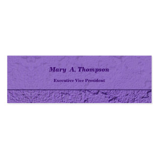 Purple Stucco Texture Business Card